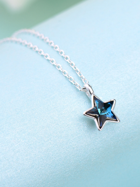 Star Necklac with Silver-Plated 925 Silver