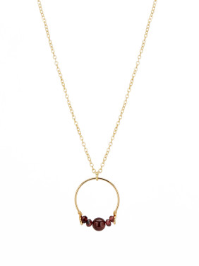 necklace with Gold Plated Copper