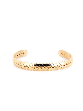 New design Gold Plated Titanium Personalized Bangle in Gold color