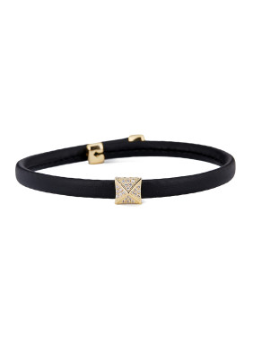 Gold Square Choker with Gold Plated PU