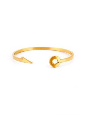 Gold Plated Titanium Personalized Gold Bangle