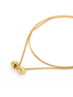The new Gold Plated Titanium Personalized necklace with Gold