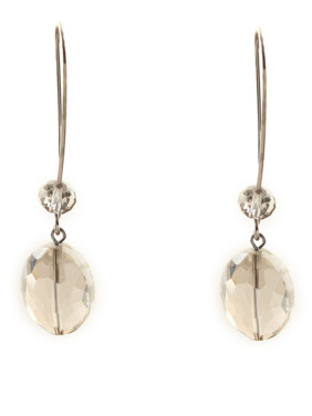 New design Silver-Plated Zinc Alloy Round Lucite Drop Earring in color