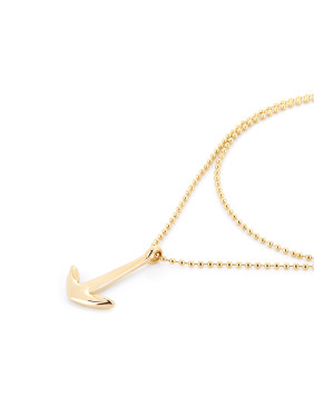 Gold Hook Youself ! Gold Plated Titanium  necklace