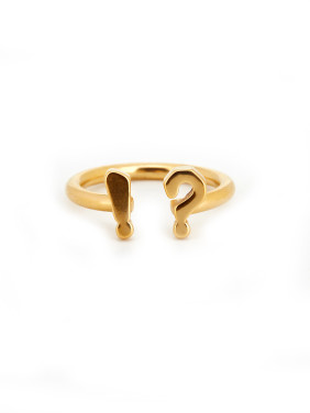 Gold Personalized Youself ! Gold Plated Titanium  Band Ring