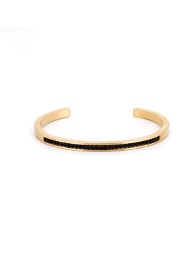Gold Plated Titanium Personalized Gold Beautiful Bangle