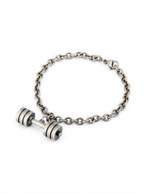 Personalized Silver-Plated Titanium Silver Personalized Bracelet