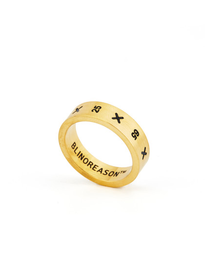 A Gold Plated Titanium Stylish  Band band ring Of Monogrammed