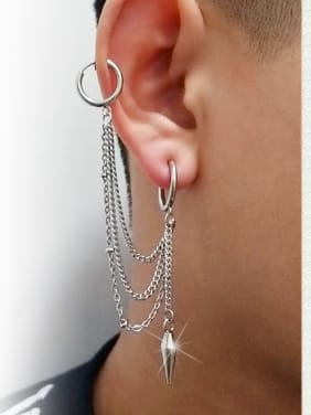 Stainless Steel With Gun Plated Trendy Irregular Earrings