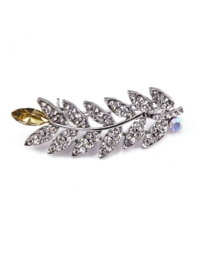 Leaf-shaped Crystals Brooch