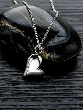 Titanium With White Gold Plated Personality Heart Necklaces