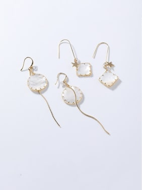 Alloy With Rose Gold Plated Simplistic Geometric Tassel Hook Earrings
