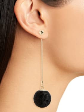 Round  Simple Fresh Enamel Western Style Women Drop Earrings