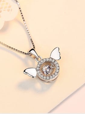 Creative Smart Angel Wings Zircons Pendant