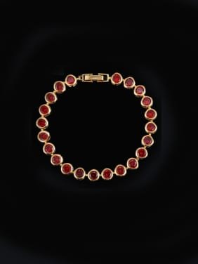 Color Zircons Luxury Bracelet