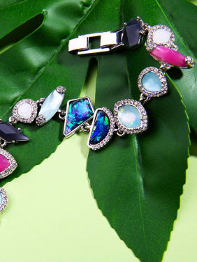 Colorful Irregular Artificial Stone Fashion Bracelet