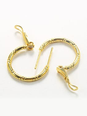 Simple Gold Plated Women Hoop Earrings