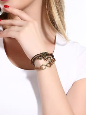 Retro LOVE Artificial Leather Bracelet
