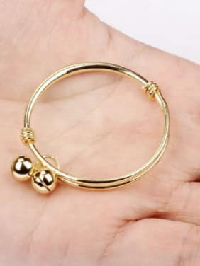 Simple Little Bells Gold Plated Children Bangle