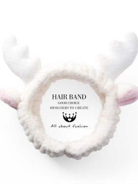 Velvet Cartoon Elk Antler Hair Ribbon