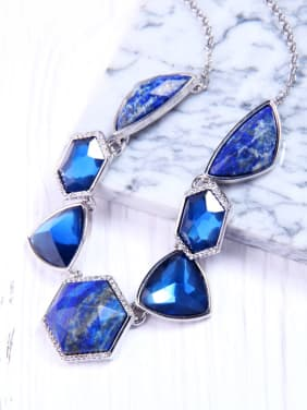 Irregular Natural Stones Fashion Alloy Necklace