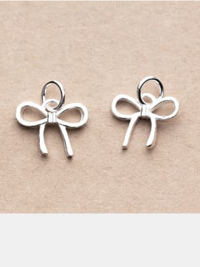 Thai Silver With Antique Silver Plated Cute Bowknot Charms