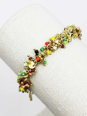 Charming Adjustable Length Colorful Natural Stone Bracelet
