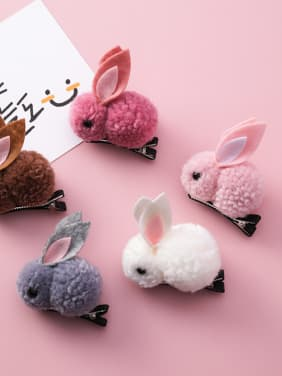 Children's Plush ornaments With Cartoon Plush three-dimensional rabbit Hair Ropes
