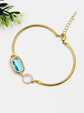 Adjustable Length Square Shaped Glass Bracelet