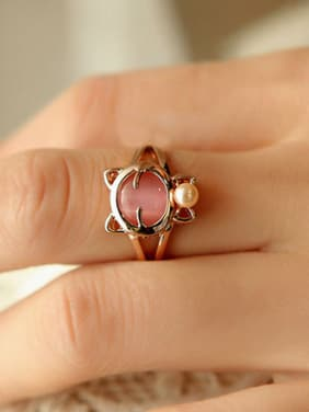 Fashion Lovely Cat Stone Women Ring