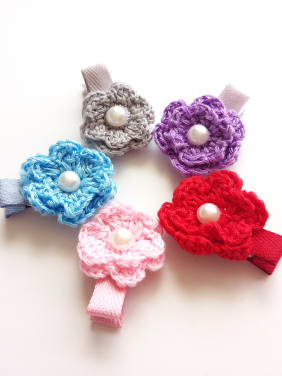 Color Flower Hair clip