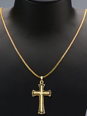 18K Gold Plated Retro Cross Two Pieces Jewelry Set