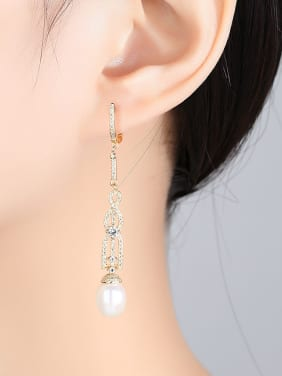 Pure silver retro 7-8mm Natural Freshwater Pearl Earrings