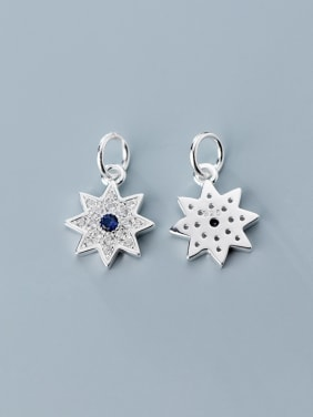 925 Sterling Silver With Cubic Zirconia Personality Anise Star  Pendants