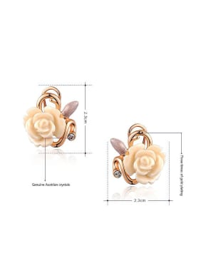 Fashion Flower Shaped Resin Two Pieces Jewelry Set