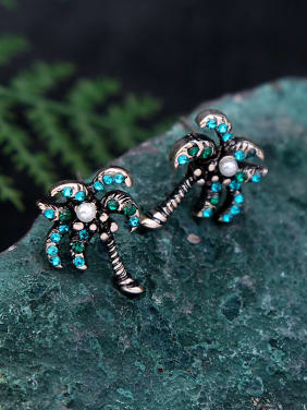 Alloy Women Tree-shape stud Earring