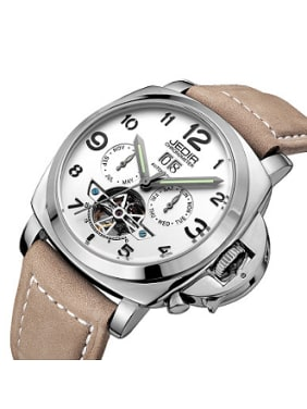 JEDIR Brand Calendar Hollow Mechanical Watch