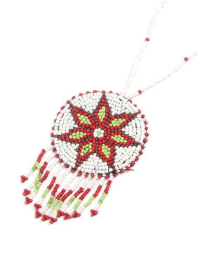 Round Flower Pattern Tassel Fashion Necklace