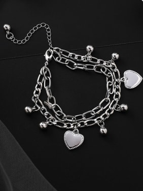 Alloy With Platinum Plated Fashion Heart Bracelets