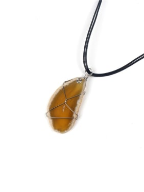 New Polychromatic Irregular Natural Stone Necklace