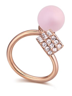 Austria was using SWAROVSKI elements crystal light Pearl Ring