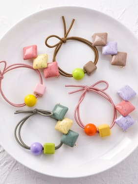 Alloy With Candy Color Headband Hair Clip Set