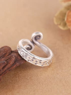 2018 Personalized Silver Handmade Opening Ring