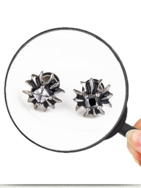 Stainless Steel With Fashion Flower Stud Earrings