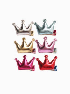 2018 PU Crown Hair clip