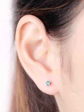Color Star Zircon Simple Stud Earrings