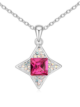 Simple Swarovski Crystals-covered Star Pendant Alloy Necklace