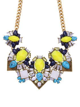 Luxury Colorful Multi-layer Women Necklace