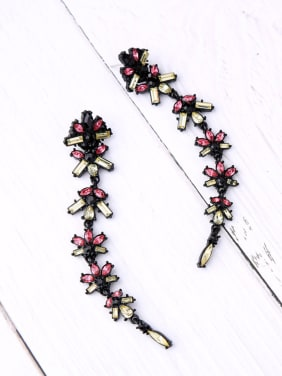 Retro Flower shaped Personality Long Drop Earrings