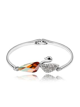 Elegant Swarovski Crystals Little Swan Alloy Bangle